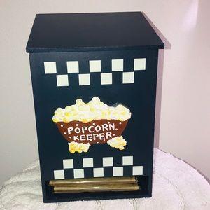 Popcorn Storage Keeper Box 3-D Emblem